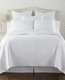 Levtex Home Cross Stitch Bright White Twin Quilt Set