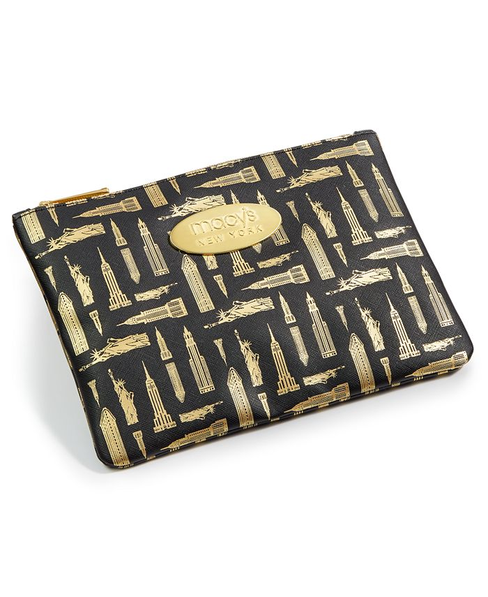 Macy's - Printed Faux-Leather Pencil Case