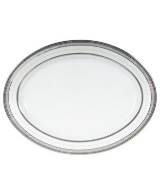 "Lauren Ralph Lauren ""Silk Ribbon Pearl"" Oval Platter, 14"""