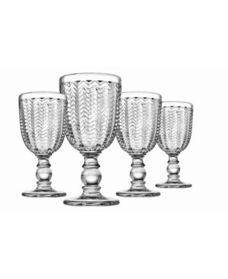 Carson Modern Vintage Red Wine Glasses, Set of Four