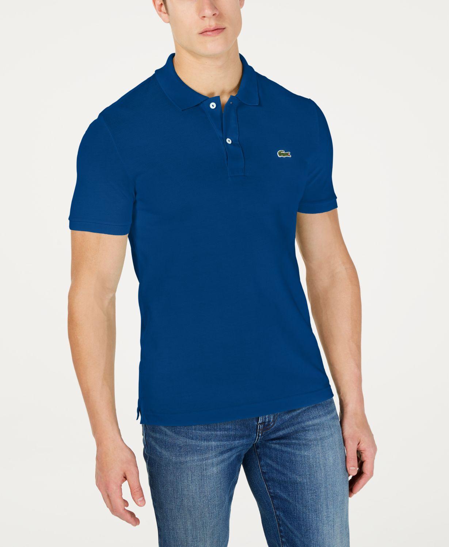 Lacoste Men's Slim Fit Petit Pique Polo Shirt & Reviews - Polos - Men - Macy's