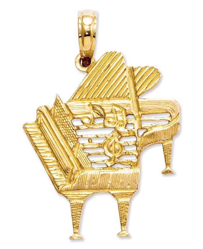 Macy's - 14k Gold Charm, Piano Charm