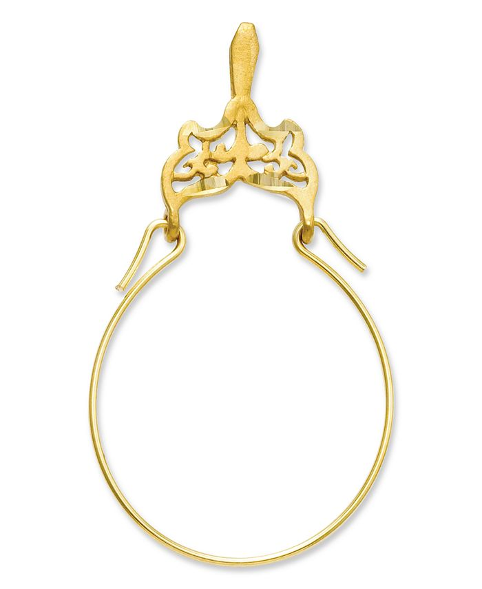 Macy's - 14k Gold Charm Holder, Filigree Charm Holder
