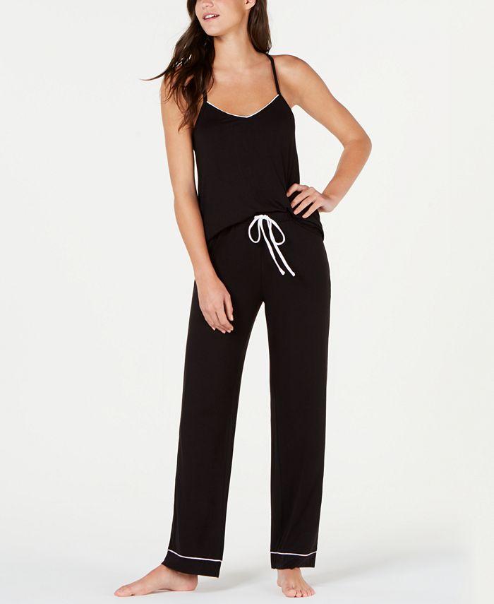Alfani - Printed Knit Tank Top and Pajama Pants Set
