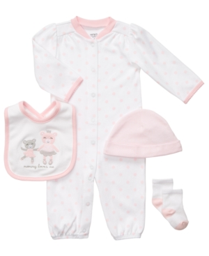 Carter's Baby Set, Baby Girls 4-Piece Ballerina Bear Gift Set