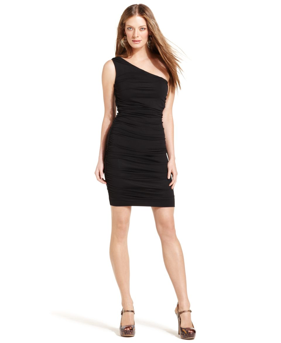 INC International Concepts Dress, Sleeveless One Shoulder Ruched