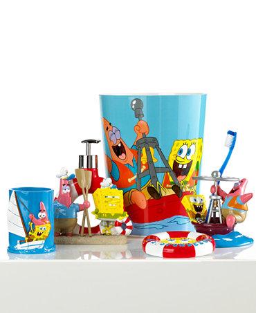 Nickelodeon Bath Accessories Spongebob Set Sail