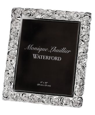"Monique Lhuillier Waterford Picture Frame, Sunday Rose 8"" x 10"""
