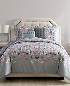 VCNY Home Amherst Reversible Damask 5 Piece Comforter Set, King