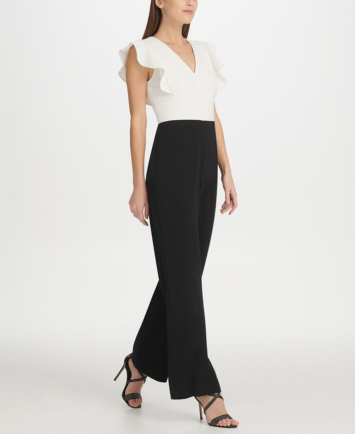 DKNY - Ruffle Detail Jumpsuit, Created for Macy's