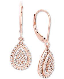 Wrapped in Love™ Diamond Teardrop Earrings in 14k White Gold (1/2 ct. t.w.), Created for Macy's