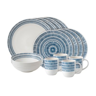 Crafted by Royal Doulton Chevron 16-Piece Dinnerware Set