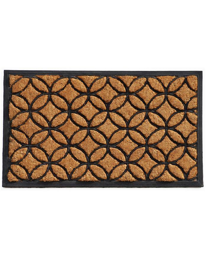 "Home & More - Circles 18"" x 30"" Coir/Rubber Doormat"