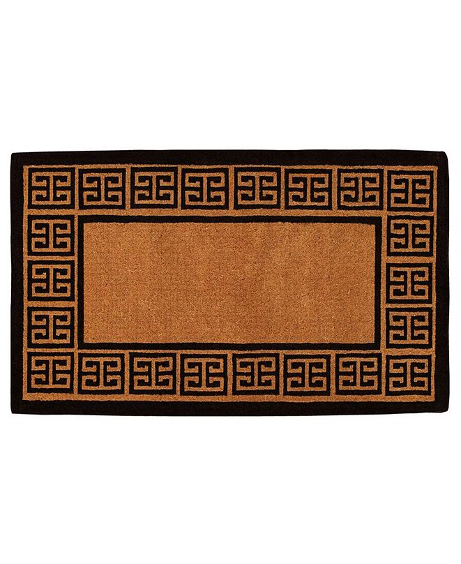 Home & More The Grecian 2' x 3' Coir Doormat