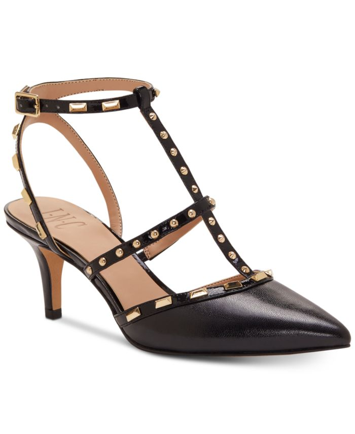 INC International Concepts INC Carma Pointed Toe Studded Kitten Heel Pumps, Created for Macy's & Reviews - Heels & Pumps - Shoes - Macy's
