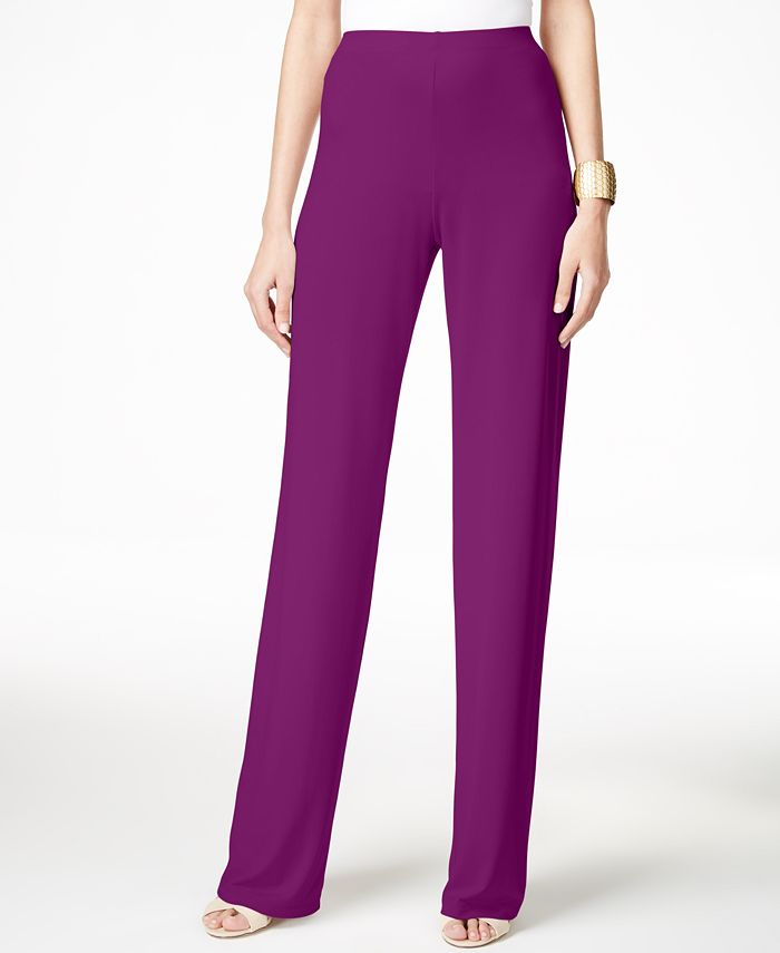 Alfani - Petite Wide-Leg Knit Dress Pants