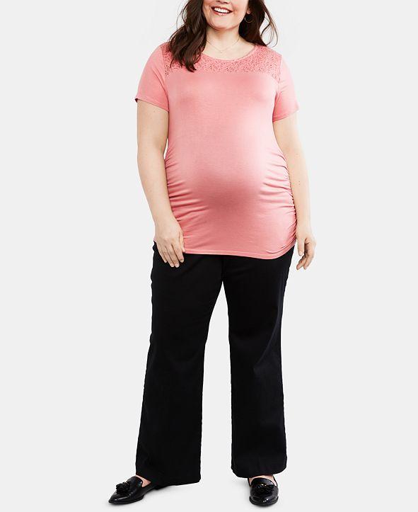 Motherhood Maternity Plus Size The Bella Secret Fit Belly Boot Cut Pants
