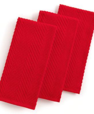 Martha Stewart Collection Pique Kitchen Towels Set Of 3 Red Kitchen Gadgets Kitchen Macy 39 S