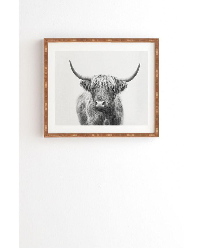 Deny Designs Deny And Designs Highland Bull Framed Wall Art Reviews Wall Art Macy S