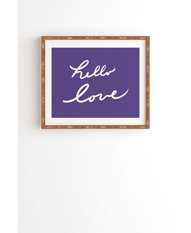Deny Designs Hello Love Violet Framed Wall Art