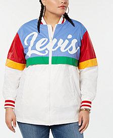 Levi's® Trendy Plus Size Colorblocked Bomber Jacket