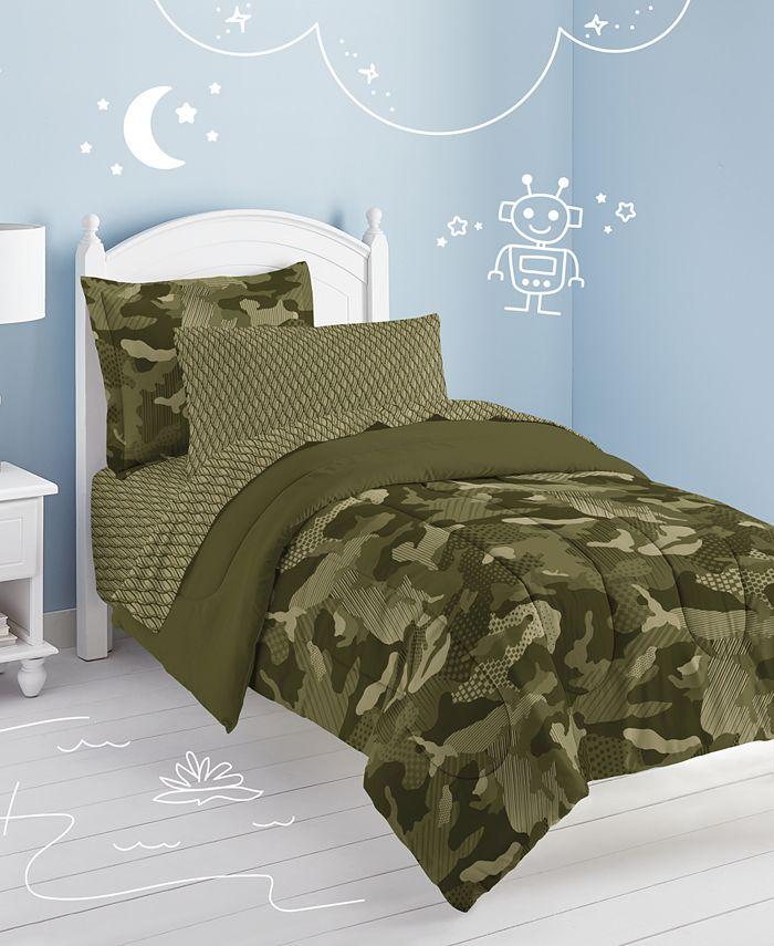Dream Factory - Geo Camo Twin Comforter Set