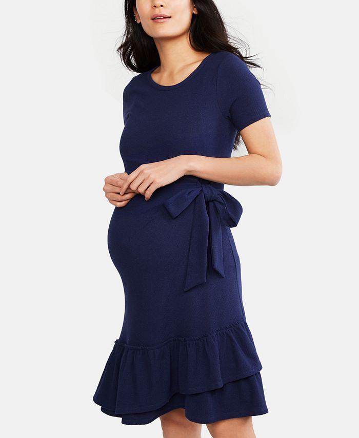 A Pea in the Pod - Maternity Ruffled Dress
