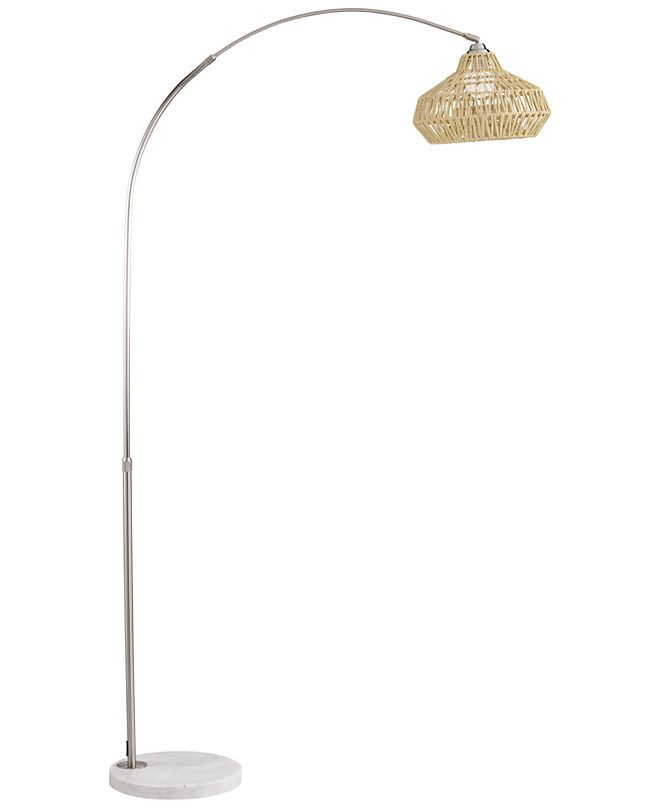 Pacific Coast Arc with Natural Shade String Floor Lamp