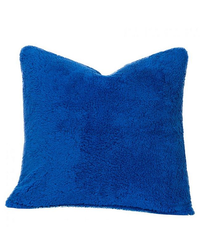 "Crayola Playful Plush Blueberry Blue 16"" Designer Throw Pillow"