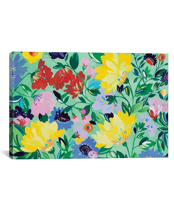 "iCanvas ""Mint Garden Textile"" By Kim Parker Gallery-Wrapped Canvas Print - 26"" x 40"" x 0.75"""