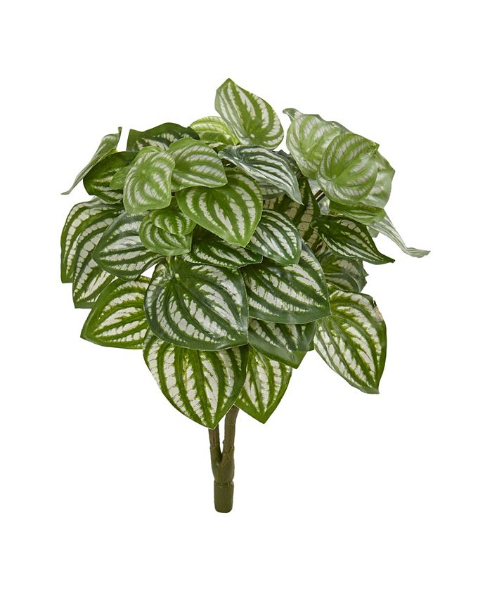 """Nearly Natural - 14"""" Watermelon Peperomia Artificial Plant (Set of 6) (Real Touch)"""