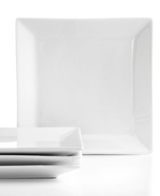 The Cellar Set of 4 Whiteware Square Appetizer Plates