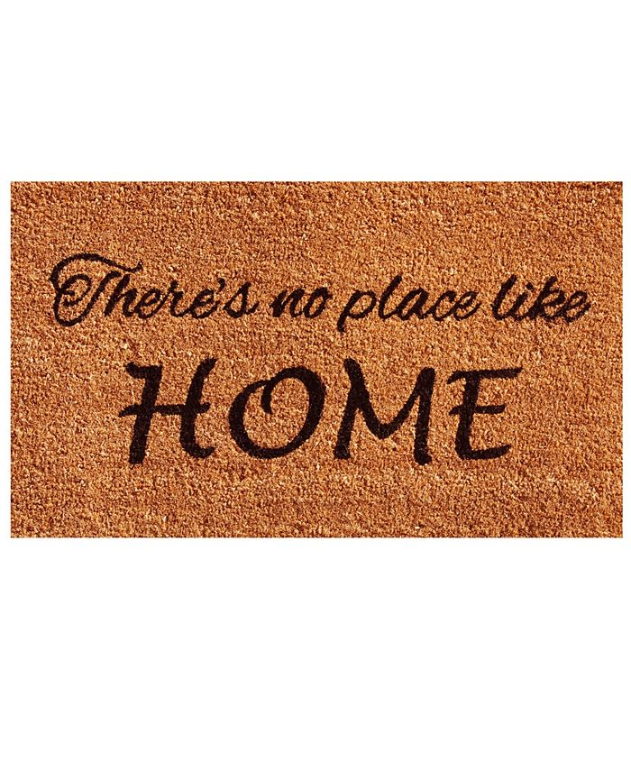 "Home & More - No Place Like Home 17"" x 29"" Coir/Vinyl Doormat"