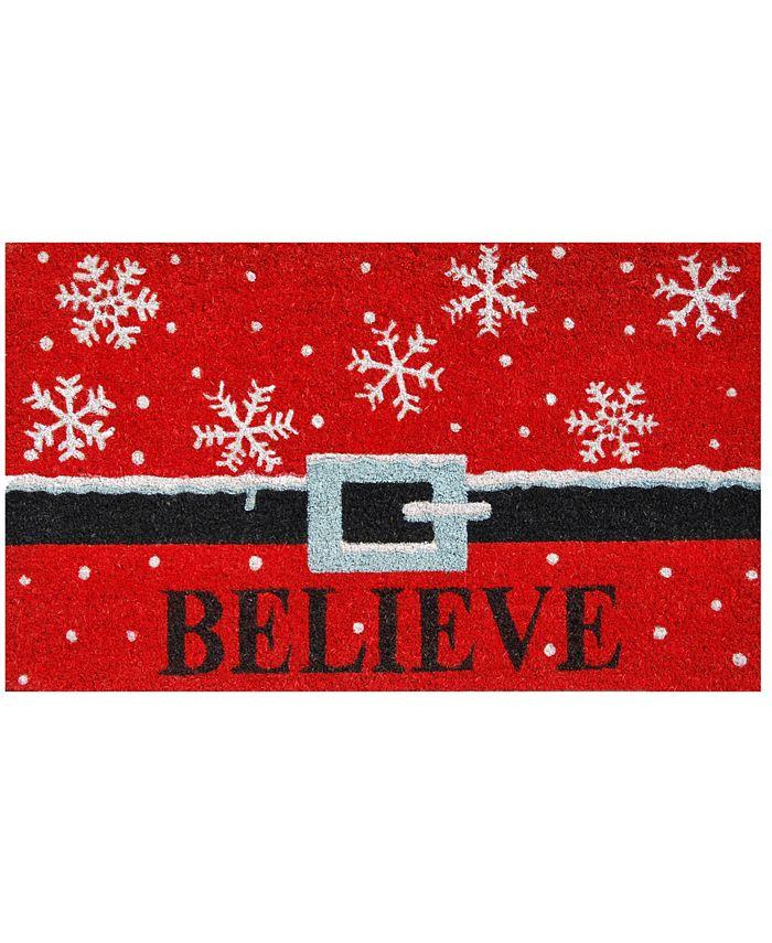 """Home & More - Believe 17"""" x 29"""" Coir/Vinyl Doormat"""