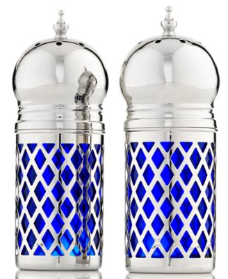 CLOSEOUT! Godinger Salt and Pepper Shakers, Cobalt