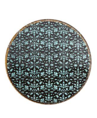 Global Tapestry Aquamarine  Dessert Plate