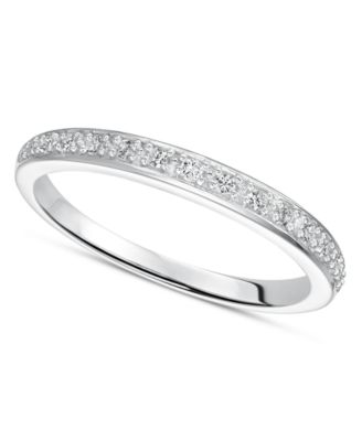 Diamond Ring Sterling Silver Diamond Wedding Band 1/8 ct. t.w.