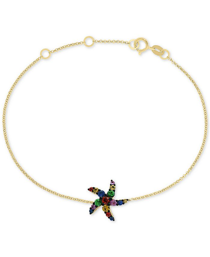 EFFY Collection - Multi-Sapphire (3/8 ct. t.w.) Starfish Bracelet in 14k Gold