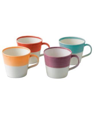 Royal Doulton Dinnerware, Set of 4 1815 Bright Mugs