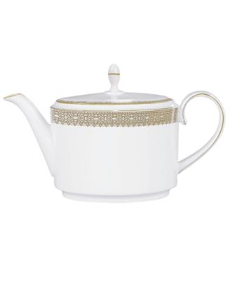 Vera Wang Wedgwood Dinnerware, Lace Gold Teapot