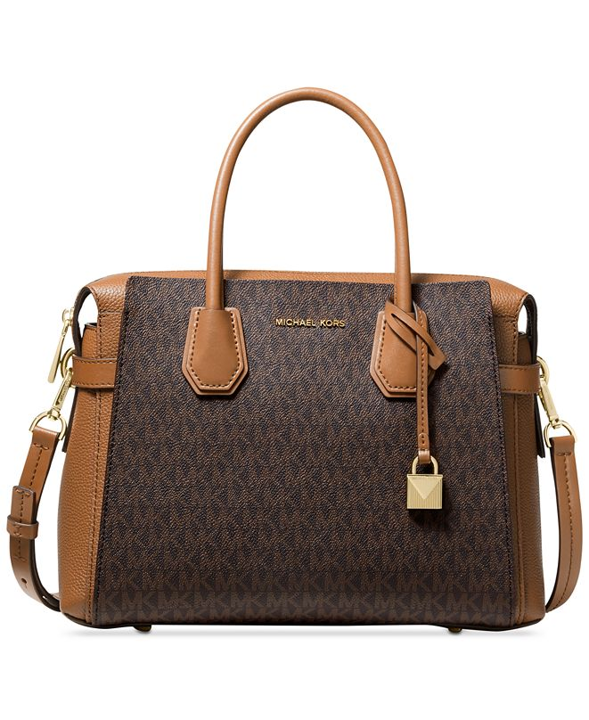 Michael Kors Mercer Belted Signature Satchel