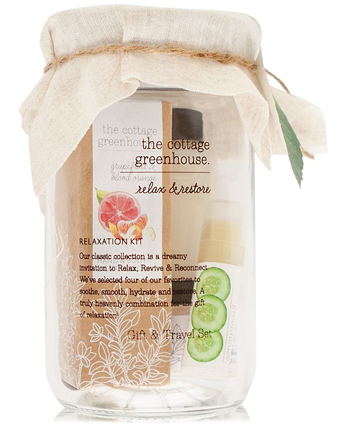 The Cottage Greenhouse - 4-Pc. Fruits Relaxation Gift & Travel Set