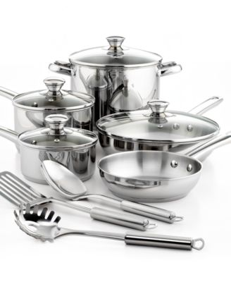 Tools of the Trade Stainless Steel 12 Piece Cookware Set