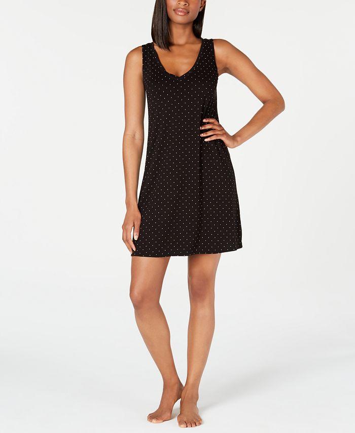Alfani - Knit Dot-Print Chemise Nightgown
