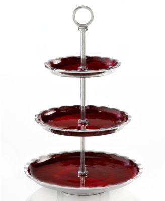 Simply Designz Serveware, Organic Fluted 3-Tier Dessert Stand