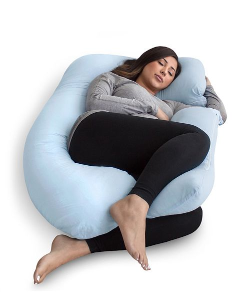 Pregnancy Pillow with Jersey Cover, U Shaped Full Body Pillow