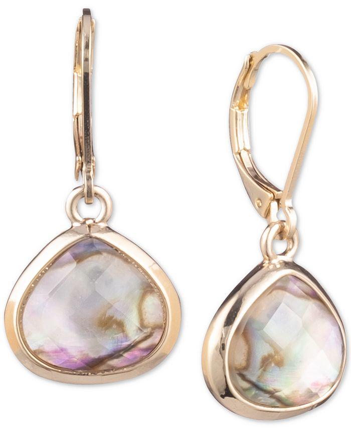 Anne Klein - Gold-Tone Stone Drop Earrings