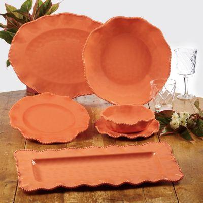 Perlette Coral Melamine 5-Pc. Salad/Serving Set