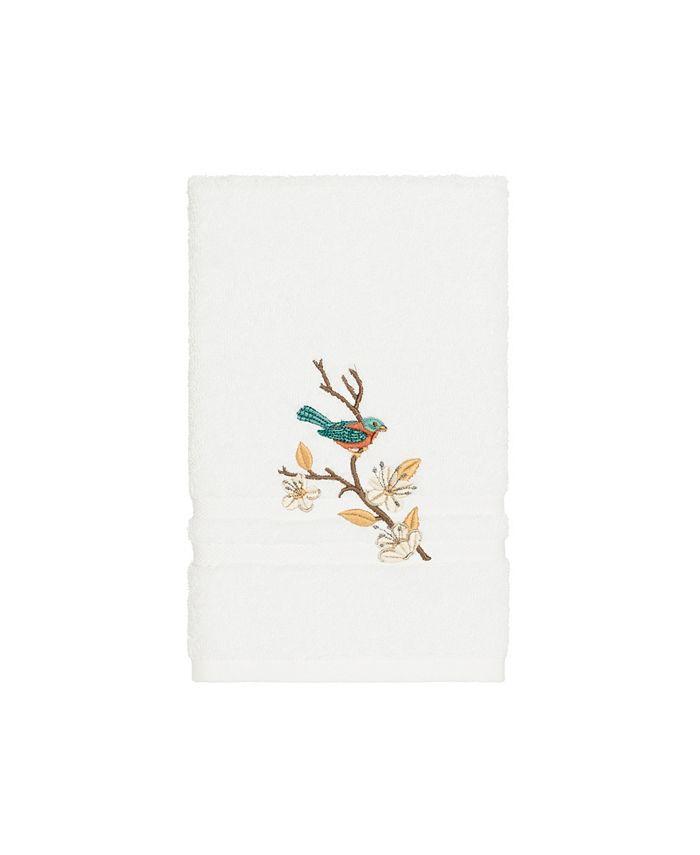Linum Home - Turkish Cotton Springtime Embellished Hand Towel