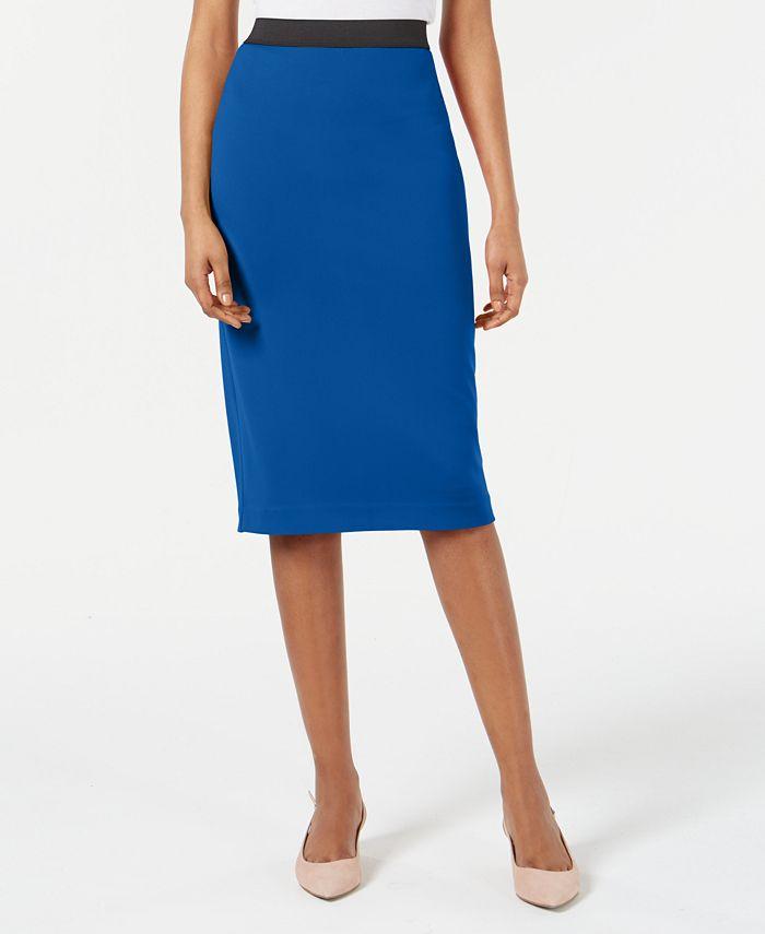 Alfani Below Knee Pencil Skirt Created For Macy S Reviews Skirts Women Macy S